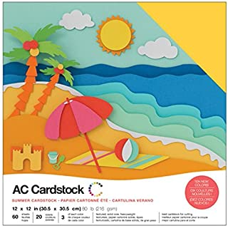 American Crafts Variety Cardstock, Multi-Colour, 30.73 x 30.73 x 2.28 cm