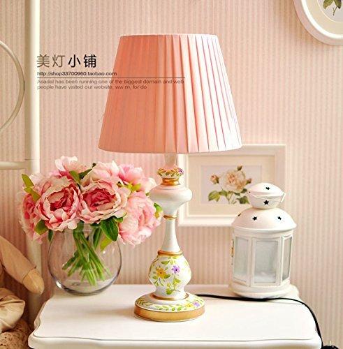 MKKM Tischlampe-der Kopf der europäischen Stil Schlafzimmer Lampe Dorf Lampen Amerikanischen Garten Lampe American Land Dekor Lampe (Land-dekor-shop)
