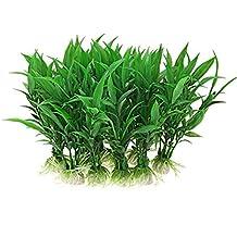 NaiCasy 10pcs Acuario Decoración de simulación mar Verde de Hierba Planta de jardín Ornamento Paisaje bajo