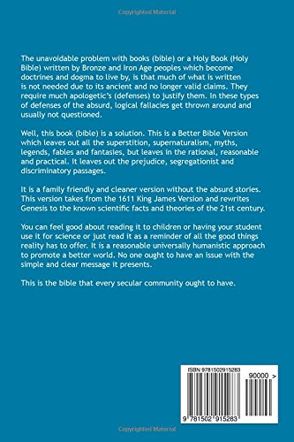 Better Bible Version: For Humanity: The Better Bible Version