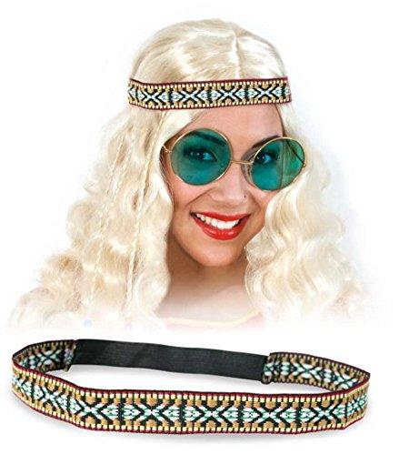 narrenwelt Hippie Cinta de Cabeza Head Ethno-Look Accesorios Diade
