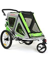 Qeridoo Speedkid 2 vert Remorque de vélo pour les Enfants de 1-2