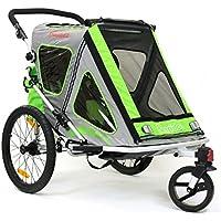 Qeridoo Q200A - Passeggino a rimorchio per bicicletta, in alluminio, modello Speedkid2, colore: