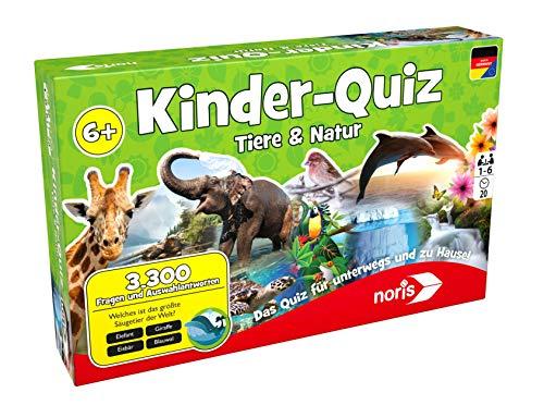 noris 606011629 - Kinderquiz Tiere & Natur, Quizspiel