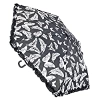 Ladies Supermini Compact Handbag Umbrella with Butterfly Print