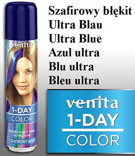 Venita 1-DAY-COLOR Farbhaarspray Ultra Blau (ultra blue)