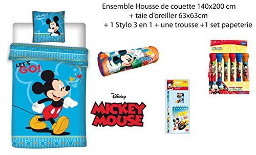 MICKEY Mouse 2Piezas niños–Juego Cama Funda
