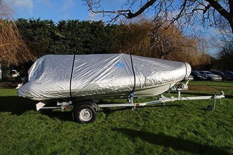 Ducksback 20-22 ft heavy duty waterproof boat cover RIB / Sport / trailer
