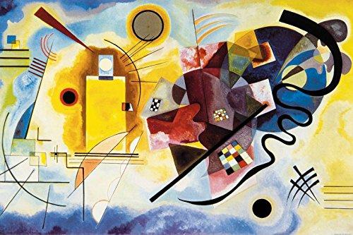 1925 Poster (1art1 83305 Wassily Kandinsky - Gelb Rot Blau, 1925 Selbstklebende Fototapete Poster-Tapete 180 x 120 cm)