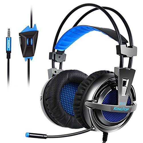 KINGTOP Gaming Headset PS4 Xbox K12 Stereo Kopfhörer mit Mikro für PS4 Xbox One PC Laptop iPad iPhone Smartphone