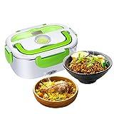 GHB Boîte Chauffante Lunch Box Chauffante Électrique Boîte Alimentaires Boîte Repas en Acier Inoxydable à Pique-nique