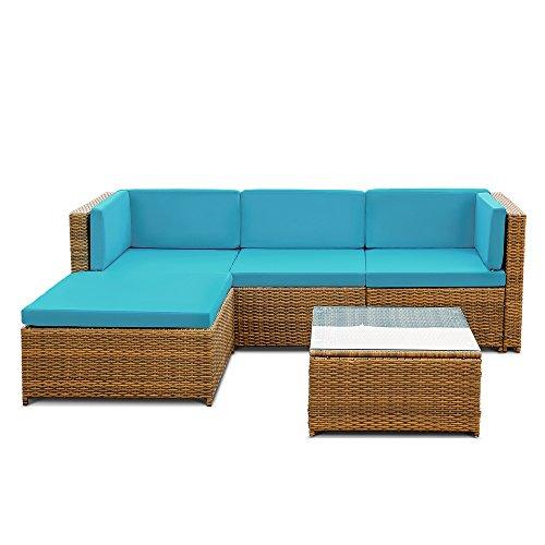 iKayaa Rattan Lounge Set Loungemöbel Loungeset Loungegruppe 3 Farbe Optional