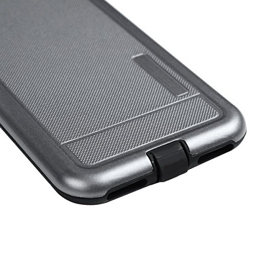 GrandEver iPhone 7 Weiche Silikon Hülle Rückschale TPU Bumper Schutzhülle Handytasche Anti-Kratzer Stoßdämpfung Silicon Backcover Soft Case Protective Cover Ultradünnen Premium Handyhülle Grau