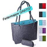 Trendico Filztasche | Henkeltasche | Shopper Damen groß | Handtasche Damen groß | Filztaschen...