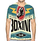 Men's Logo Crew Neck T-Shirt Boxing Club Retro tin Sign Template Boxing Club Retro tin Sign Template Sport Recreation Poster