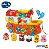VTech- TutTut Animals Arca de Animales Juguete Interactivo con luz y Voz Que enseña el Clima, Colores e Incluye más de 50 melodías, Canciones y Frases (3480-504522)