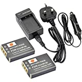DSTE® 2x NP-95 Rechargeable Li-ion Battery + DC29U Travel and Car Charger Adapter for Fujifilm FinePix F30, FinePix F31fd, FinePix Real 3D W1, FinePix X100, FinePix X30, FinePix X100T, FinePix X100LE, FinePix X100S, X-S1 and Compatible with RICOH DB-90, GXR, GXR Mount A12, GXR P10 Digatal Camera