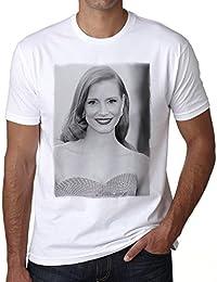 Jessica Chastain T-shirt,cadeau,Homme,Blanc,t shirt homme