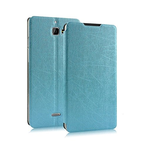 Heartly Premium Luxury PU Leather Flip Stand Back Case Cover For Micromax Canvas Nitro A310 A311 Dual Sim - Power Blue