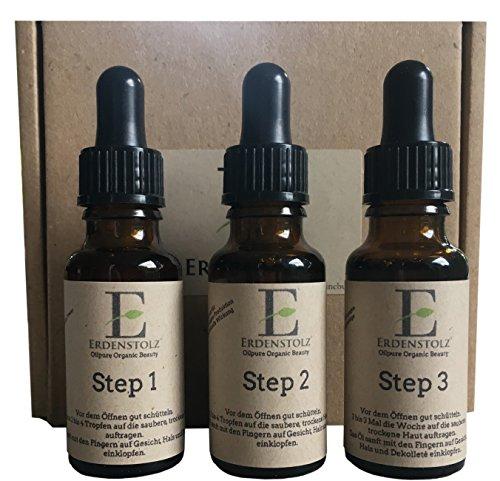 Step System - 3x 20ml - mindert Falten und Alterserscheinungen - mindert Altersflecken - wirkt Augenringen und Tränensäcken entgegen