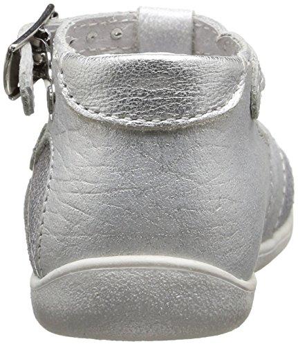 Little Mary Valeriane, Chaussures Premiers pas bébé fille Argent (Mosaic Taupe)