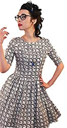 1950s Style Periodic Table Science Print Ladies Dress - Silly Old Sea Dog