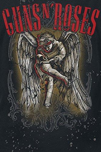 Unbekannt Guns N' Roses Sketched Cherub Girl-Shirt Schwarz Schwarz