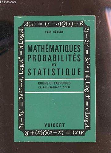 Mathématiques, probabilités et statistique. par HEBERT YVES