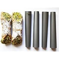 Eco Haus Living Molde Canutillo - 15cm 4 piezas cannoli siciliani una forma de postres recubrimiento antiadherente - fácil de limpiar - ideal para pequeños postres y cremas con crema