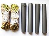 Eco Haus Living Canolli Tube Set - Set da 4 Stampi per Cannoli 15 cm - forma cilindrica, – acciaio...