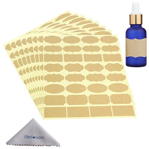 wisdompro 8Tabelle ätherisches Öl Flasche Aufkleber Etiketten -