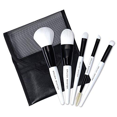 makeup Brush Travel BM Brush Master Portable makeup Brush set 6pezzi include pennello per cipria, pennello per fondotinta, correttore, piccolo per ombretto, pennello per sopracciglia ciglia pennello ideale per uso quotidiano