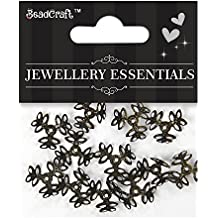 Itsy Bitsy Metal Jewelry Findings Bead Cap 3 Petal Flowers, Pack of 3