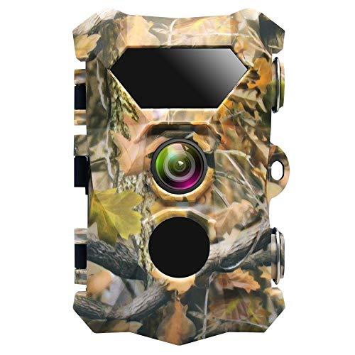 """Hofet 16MP Wildkamera, 1080P Full HD Jagdkamera Infrarot-Nachtsicht bis zu 82 Fuß/25m, IR LEDs Bewegungsmelder, IP66 Wasserdicht 2.4\"""" LCD 0,3 Sekunden Auslösezeit"""