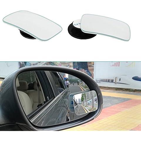 Rimless Convexo espejo de punto ciego Cristal ezykoo 2unidades 360° giratorio + 20° Sway adjustabe HD de cristal Spot Espejo 2nd Generation Amplio ángulo de visión trasera espejo fácil instalación rápida con pegamento 3m, autoadhesiva perfecto para coche taxi
