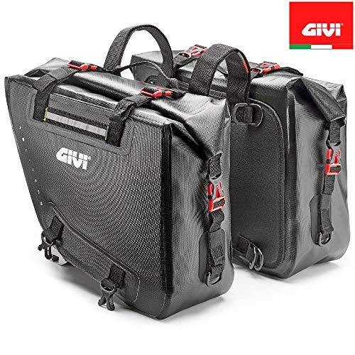 Coppia Borse Laterali Impermeable Givi GRT718 Moto Enduro Nylon 840D TPU 15+15...
