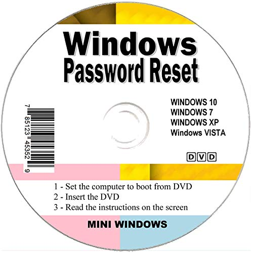 Seifelden 2019 Windows Password Reset Disk Recovery Premium Bootable Disc  for Removing Your Forgotten Windows Password on Windows 10, Windows 7,