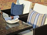 Rome Grey Rattan Garden Conservatory Cube 8 Seat Dining Set WITH COVER WORTH £60 WHILST STOCKS LAST