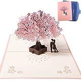 NACTECH 3D Karte Hochzeitskarte Pop up Karte Romantik Faltkarte Grußkarte Valentinstag Karte mit Umschlag für Geburtstag Hochzeit Einladung Karte, Jahrestage, Verlobungspartys