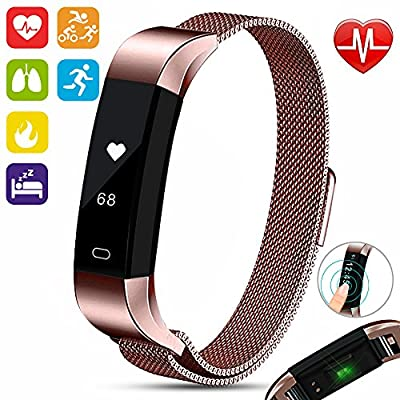 Aquarius AQ115 Multifunctional Health Assistant Fitness Tracker with 24-hour continuous Heartbeat monitoring and analyzing Technology plus Water resistant features and much more with APP support by Aquarius
