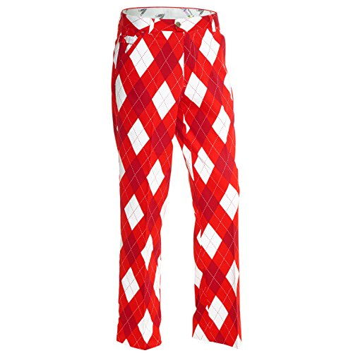 Royal & Awesome Herren Golf Hose Pants, Diamond Geezer, 30