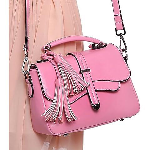 GQQ NUEVOS bolsos de hombro bolsos moda Dacron PU para la parte comercial y lugar de trabajo hasta 4 L GQ bolso @ , pink
