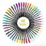 48 Stück Gelschreiber Gelstifte Set Inklusive Glitter Metallisch Pastell 4 Arten für Zeichnen Schreiben Erwachsene und Malbücher by Mutsatz