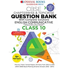 Oswaal CBSE Question Bank Class 10 English Communicative Chapterwise and Topicwise (For March 2019 Exam)