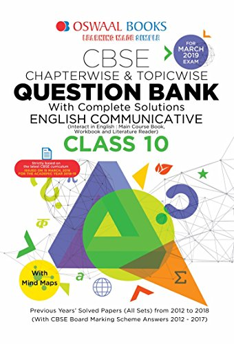Oswaal CBSE Question Bank for Class 10 English Communication (Mar 2019 Exam)