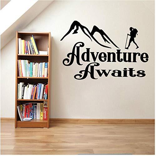 Wandaufkleber 65 CM * 43,5 CM Abenteuer Erwartet Aufkleber Camper Stiefel Trail Schlafsack Art Home PVC Wandaufkleber