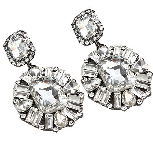 TBOP EARRING THE BEST OF PLANET SIMPLE & STYLISH high-end big earrings luxury super flash gemstone earrings in white color