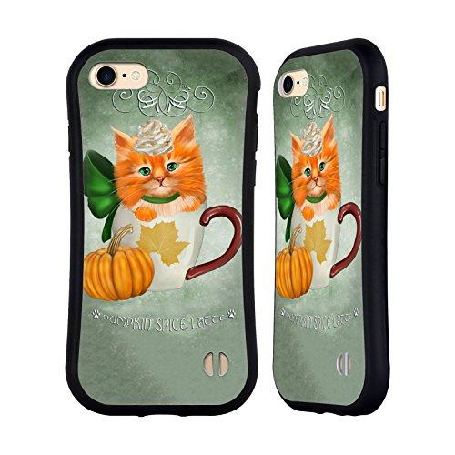 Ufficiale Ash Evans Zucca Speziata Latte Gatti Su Tazze Case Ibrida per Apple iPhone 7 Plus / 8 Plus Zucca Speziata Latte