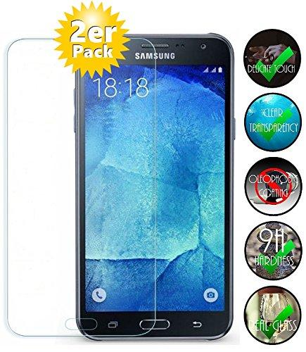 [2 Pack] Panzerglas für Samsung Galaxy J7 2016 Schutzglas , Panzerglasfolie SchutzfolieGehärtetes Glas 9H Displayschutzfolie von Smartphone-Equipment