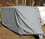 1PLUS Abdeckplane Ganzgarage Schutzhülle für Wohnwagen (S (460 x 250 x 220 cm))